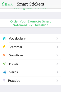 Evernote Phone Smart Stickers