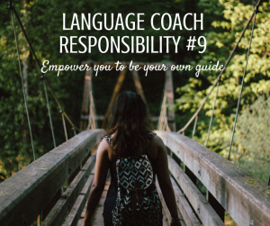 LANGUAGE COACH RESPONSIBILITY #9